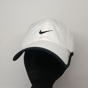 Nike White Black Mesh Baseball Cap Hat one Size